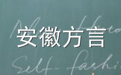 岳西方言修辞举例