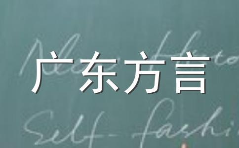 潮汕方言惯用语