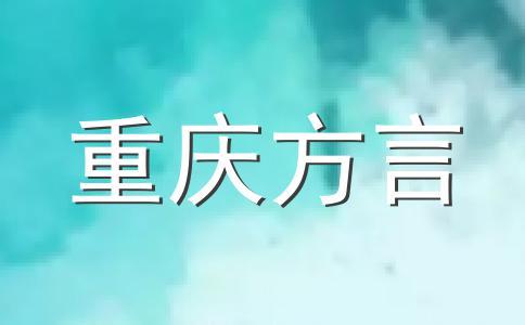 重庆地区方言渠算儿
